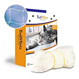 BellMietz Katzennetz für Balkon & Fenster (durchsichtig) | Extragroßes 8x3m Katzenschutz-Netz ohne Bohren | Balkonschutz Inkl. 25m Befestigungsseil | Balkonnetz transparent mit gratis eBook