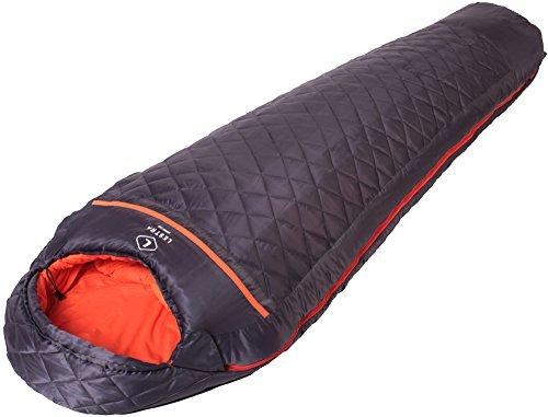 Lestra Mont Everest Schlafsack Unisex Erwachsene, Dunkelgrau, Größe 210