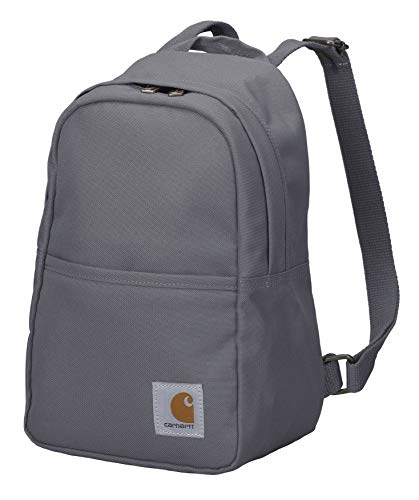 Carhartt Mini Backpack, Everyday Essentials Daypack for Men and Women, Grey