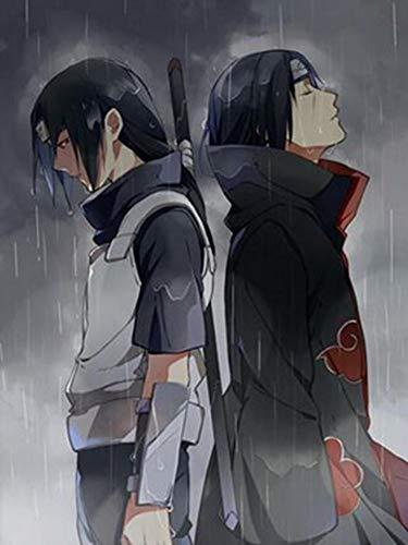 wZUN Naruto Uchiha Itachi Popular Anime Manga Arte Impreso Imagen Lienzo Seda póster decoración de la Pared del hogar 60x80 Sin Marco