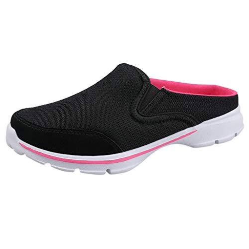 KERULA Damen Hausschuhe Flache Indoor Atmungsaktiv Badeschuhe Home Badelatschen rutschfest Slippers Pantoffeln Gartenschuhe Schlappen Slide Sandal Sandalen