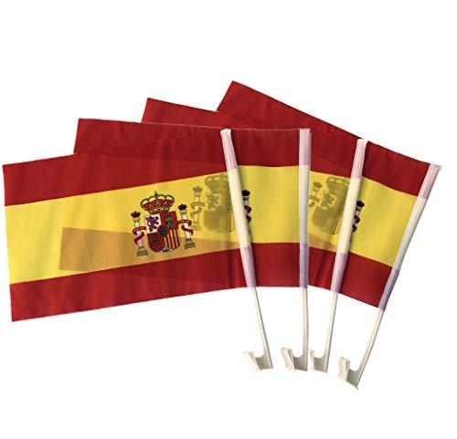 NEWTORO Banderas De Coche España(30 * 45cm) Bandera pequeña