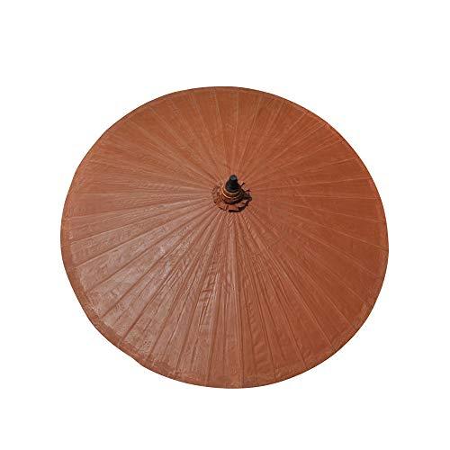 patio umbrella Sombrillas Terraza Bambú 2m Sombrilla Playa Proteccion UV Mpermeable 36 Costillas De Bambú Sombrilla De Jardín Decoración Vintage/sin Base/con Funda De Paraguas