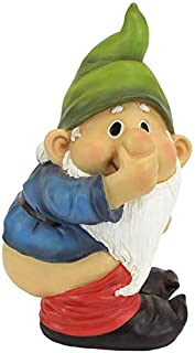 Garden Gnome Statue - Stinky the Garden Gnome - Naughty Gnomes - Mooning Gnomes Statues