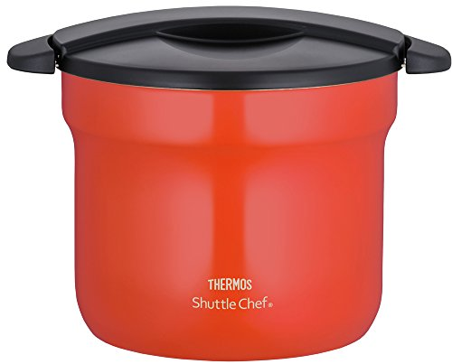 THERMOS vacuum heat insulation cooker shuttle chef 4.3L [for 4 to 6 people] tomato KBF-4501 TOM