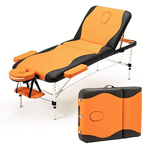 DEAR-JY Cama de Masaje,Mesa de Masaje Plegable de Aluminio Multifuncional,Silla de Masaje portátil de Altura Ajustable,para salón de Belleza Masaje SPA Terapia Tratamiento del Tatuaje ✅