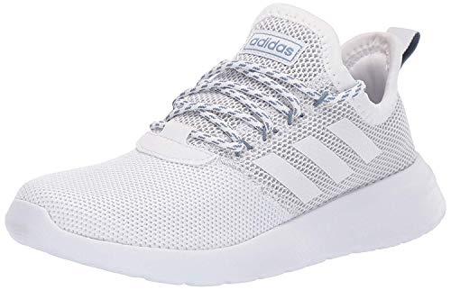 adidas Women's Lite Racer Reborn Running Shoe, White/White/raw Grey, 8 M US