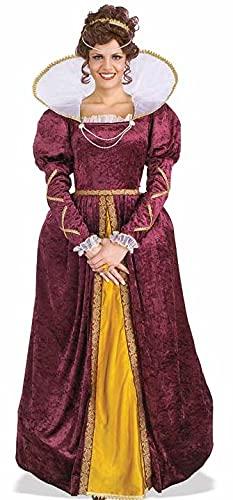 Forum Queen Elizabeth Dress and Crown, Purple, One Size Costume