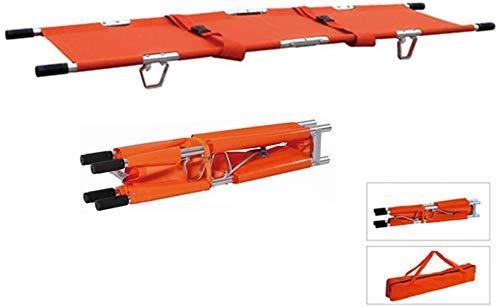 GLJY Notrettungs-Aluminiumlegierung, Die Tragbare Bahre Mit Griffen LRSD-F002, Gewicht-KapazitäT 350Lbs, Orange Faltet