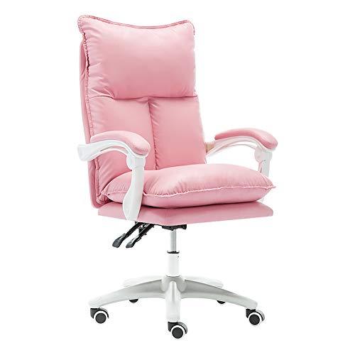 Asiento de escritorio de diseño ergonómico para escritorio, silla de papelera, piel sintética, conexión de rampa de mano corriente, bandeja antideflagrante gruesa, pie de nailon, rueda de unidad central