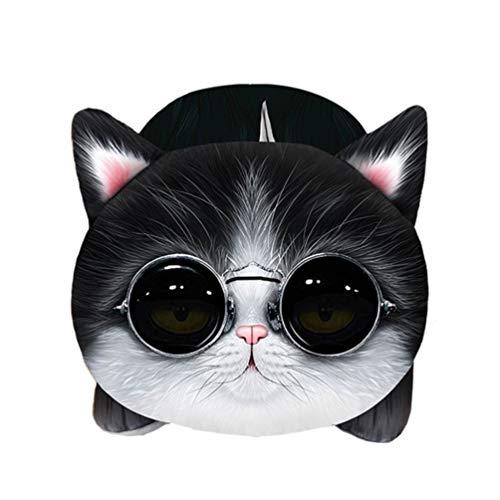 Vosarea Car Tissue Holder, Cartoon Tissue Box, Plush Tissue Organizer Paper Holder for Car Home Bedroom Living Room (Spectacle Cat)