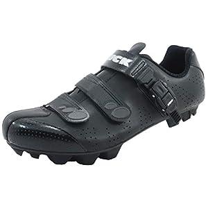 LUCK Zapatillas de Ciclismo MTB ODÍN con Suela de Carbono y Cierre milimétrico de precisión. (45 EU, Negro)