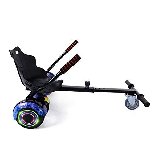 YAHAO Silla para Hoverboard, Hoverkart para Hoverboard,Asiento Hoverkart Go-Kart Silla Kart para Electric Self Balancing Scooter, Compatible con 6.5, 8 Y 10 Pulgadas,Black