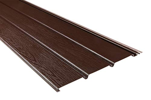 10 Kunststoffpaneele | braun | Dachkasten | umweltresistent | Unterdach | PVC | außen | Verkleidung | Soffit | 200 x 30 cm | 6 qm Sparpaket