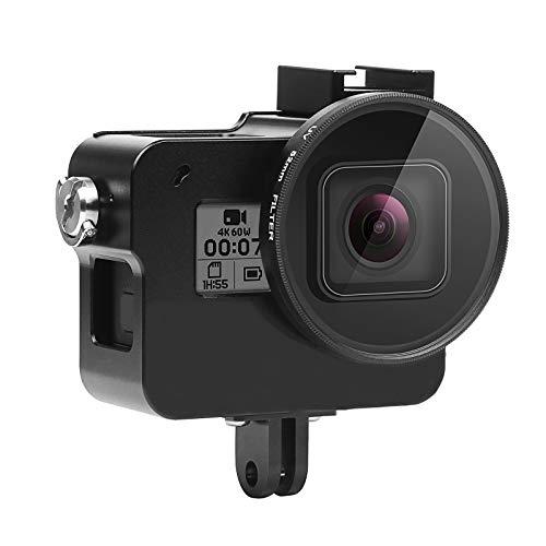 SHOOT Aluminium Legierung Skelett schützende Gehäuse Case mit 52mm UV Filter für Gopro Hero 7 Schwarz Action Kamera