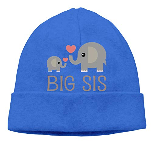 Yuanmeiju Big Sis Elephants Adult Hip Hop Breakdance Gorros Gorros Unisex Gorro de Cobertura de algodón Suave Azul