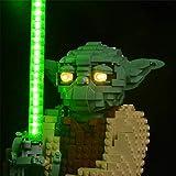 TRCS Juego de iluminación LED para figura de Yoda de Star Wars, luz LED, compatible con Lego Star Wars Yoda 75255, sin set Lego