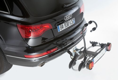 Mottez Premium - Plataforma portabicicletas para bola de enganche (2 bicicletas), color gris