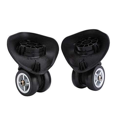 Universal Castor , Castor Wheels,Moving Caster Wheels Heavy Suitcase Replacement Wheels Luggage Swivel Wheels, 2Pcs PVC Universal Plastic Luggage Suitcase Replacement Wheels Black Repair Accessories S