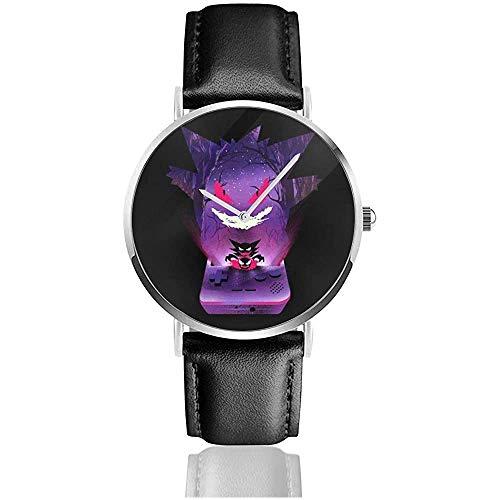 Monster of The Pocket Gengar Console Silhouette Watches Reloj de Cuero de...