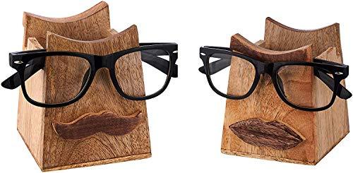 India Store US Dual Side Wood Pencil Holder Pen Holders Cum Spectacle Eyeglass Holder for Desk Pencil Holders Wooden Desk Pencil Pen Organizer Cups for Desktop