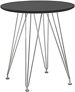 Mod Made Mid Century Modern Paris Tower Round Table Bistro Table, Black