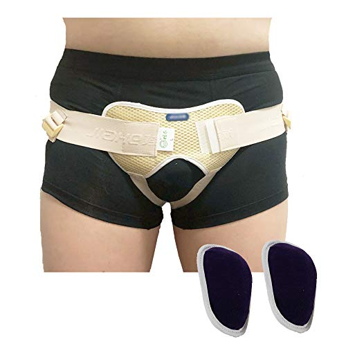 Hernia Belt for Men Women Inguinal Hernia Support Truss Groin Brace Mens Underwear Hernia Truss for Double Left Right Side Post Surgery Inguinal Hernia Strap