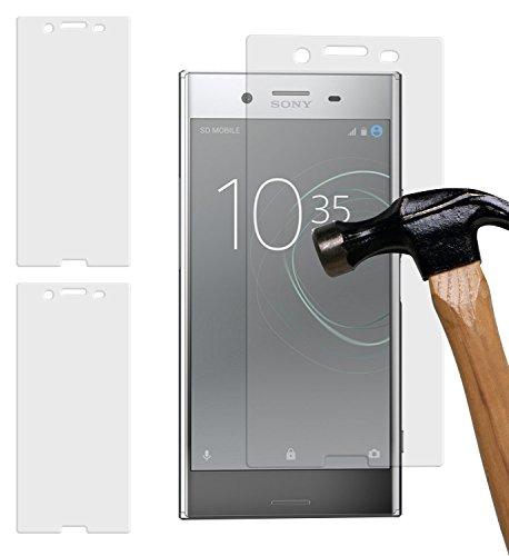yayago Juego de 2 protectores de pantalla de cristal templado de 0 26 mm para Sony Xperia XZ Premium vidrio templado 9H (más pequeño que la pantalla ya que esta está curvada)