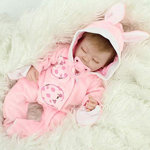 Doll Vinyl Silikon Körper Reborn Puppen Real Touch Baby Lebensechte 17,7