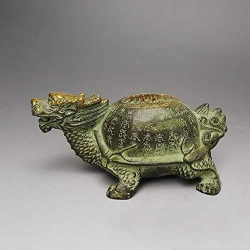 YOPDNE Collezione Antica l Feng Shui Oggetti in Rame in Rame Articoli in Legno Seiko Tartaruga l Baishou Tartaruga l Longevità Tartaruga Drago Tartaruga Decorazione in Bronzo