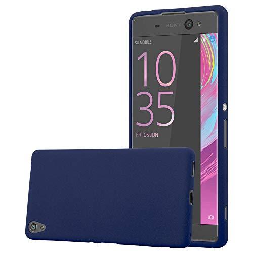 Cadorabo Funda para Sony Xperia XA Ultra en Frost Azul Oscuro - Cubierta Proteccíon de Silicona TPU Delgada e Flexible con Antichoque - Gel Case Cover Carcasa Ligera