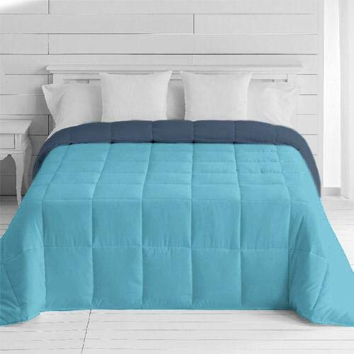 Energy Colors - Textil hogar - Estonia - Edredón Nórdico Colcha Bicolor Duvet Reversible 350/400 g Fibra Hueca Alta Densidad (Azul - Marino, 180_x_260_cm (Cama 105 y 90))
