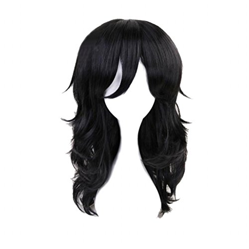 Ani·Lnc Cosplay Party Wigs Anime Long Black Cosplay Wig with free Cap