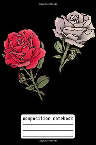 Composition Notebook Red and White Roses Tattoo: Red and White Roses Tattoo Composition Notebook, log book and internet password organizer, ... and White Roses Tattoo gift, Composition Note