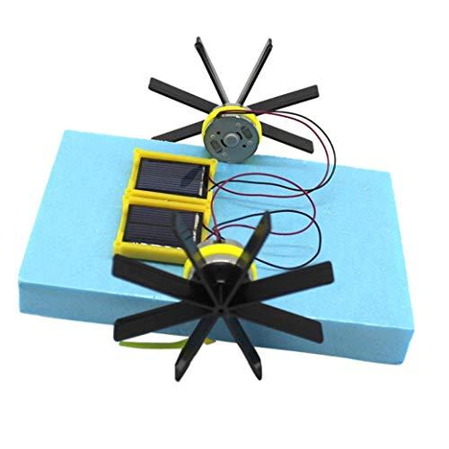 Fliyeong Premium Qualität Solarbetriebene Spielzeug, DIY Mini Solarbetriebene Solar Paddelboot DIY Kinder Pädagogisches Gadget Spielzeug, Spielzeug Für 1 2 3 4 5 6 7 Jahre Alt Junge Mädchen