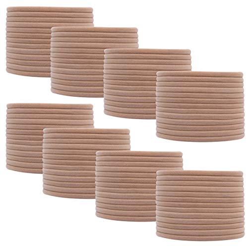 Nylon Headbands for Baby Girls 100 Bulk Wholesale DIY - Stretchy One Size Fits All Headband (Nude)