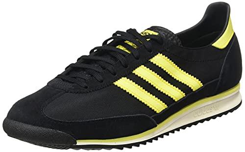 adidas SL 72, Zapatillas Deportivas Hombre, Core Black Acid Yellow Off White, 40 2/3 EU