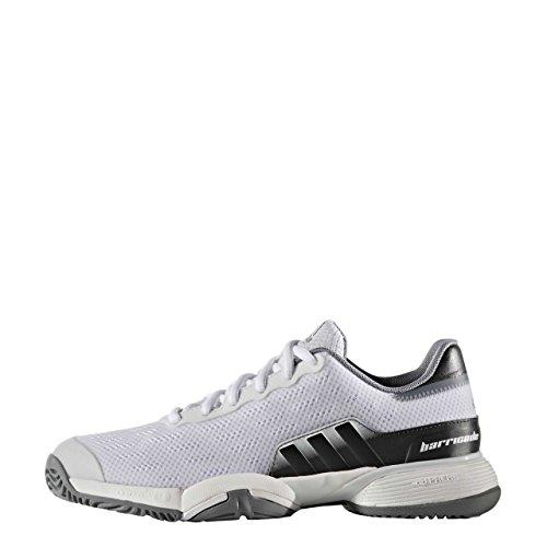 Adidas Barricade 2016 Xj, Zapatillas de Tenis Unisex Niños, Blanco (Ftwbla/Grpudg/Gris), 35.5 EU