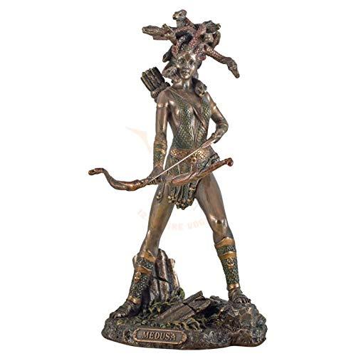 Figur Medusa Göttin Plastik in Bronzeoptik