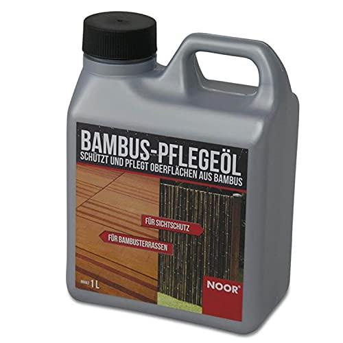 NOOR Bambus Pflegeöl 1L I Bambus-Behandlung - ideal für Terrassenböden, Zäune und Bambusrohre I Farblose Holzschutzlösung