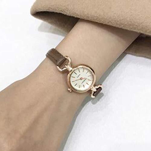Ladies Relojes, Relojes de la Correa, señoras de Cuarzo Relojes de Pulsera, Relojes pequeños Lindo, Relojes, Accesorios de Relojes de los Estudiantes,Marrón