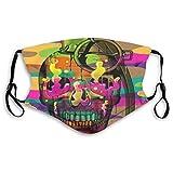 Fashion Mouth Ma-sk, cráneo granada lavable cara Ma-sk para niños hombre y mujer