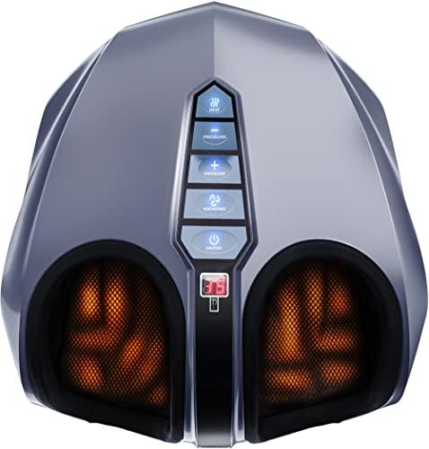 Miko Shiatsu Foot Massager Machine With Deep-Kneading, Compression, Heat and...