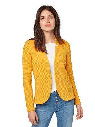 TOM TAILOR Damen Blazer & Sakko Blazer mit Strukturstoff Merigold Yellow,XL