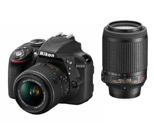 Nikon D3300 24.2 MP CMOS Digital SLR with 18-55mm DX VR II & 55-200mm DX VR...
