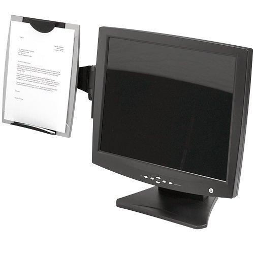 Fellowes Monitor Konzepthalter hält bis zu 100 Blatt schwarz/silber