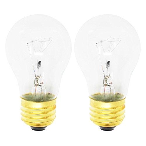 2 Replacement Light Bulbs for Frigidare LGEF3043KF, Frigidare FFGF3047LSF, Frigidare FFEF3048LSM, Frigidare FFEF3015LSM, Frigidare FFEF3043LSK, Frigidare LFEF3011LBD, Frigidare FGF348KCN