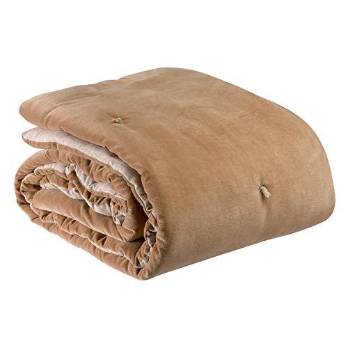 Vivaraise - Plaid Points noués Elise – 140x200 cm – 100% Coton - Couverture d'appoint Chaude, jeté de canapé Doux