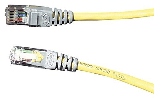 Belkin F3X126b03M Cavo Incrociato UTP con Connettore Fuso, Categoria 5E, 3 m, Giallo