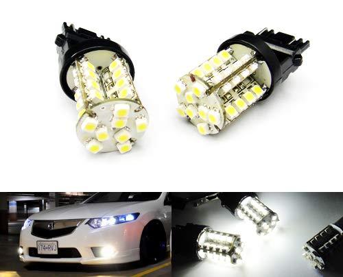 2 x Blanc 582 W21 W 580 W21/5 W ampoule 40 LED Feu de position latéral Indicateur de signal Queue Arrêt inversée lumière du jour DRL